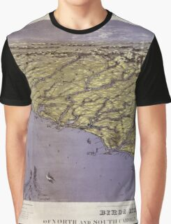 Civil War Maps 1239 Panorama of the seat of war birds eye view of North and South Carolina and part of Georgia Graphic T-Shirt