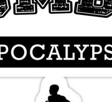 Training for the zombie apocalypse Sticker