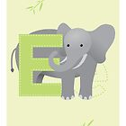 E is for Elephant (Uppercase) by Haley Luden