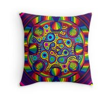 Psychedelic Abstract colourful work 255 Throw Pillow