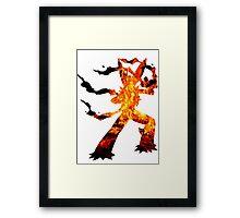 Mega Blaziken used Blast Burn Framed Print