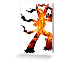 Mega Blaziken used Blast Burn Greeting Card