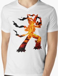 Mega Blaziken used Blast Burn Mens V-Neck T-Shirt