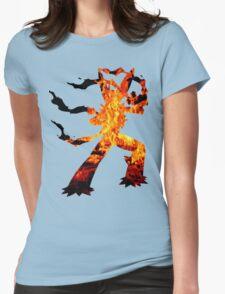 Mega Blaziken used Blast Burn Womens Fitted T-Shirt