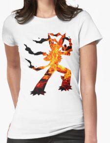 Mega Blaziken used Blast Burn Womens Fitted T-Shirt
