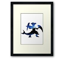 Mega Garchomp used Night Slash Framed Print