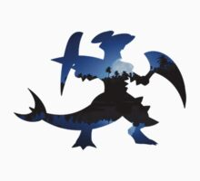 Mega Garchomp used Night Slash One Piece - Long Sleeve