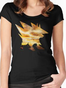 Mega Manectric Thunder Wave Women's Fitted Scoop T-Shirt