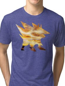 Mega Manectric Thunder Wave Tri-blend T-Shirt