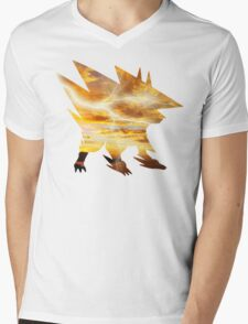 Mega Manectric Thunder Wave Mens V-Neck T-Shirt