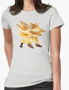 Mega Manectric Thunder Wave Womens Fitted T-Shirt