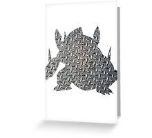 Mega Aggron used Metal Burst Greeting Card