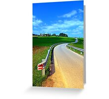 Country road into amazing panorama | landscape photography Greeting Card
