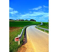 Country road into amazing panorama | landscape photography Photographic Print