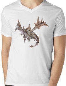 Mega Aerodactyl used Rock Slide Mens V-Neck T-Shirt