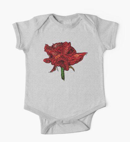 Rose flower One Piece - Short Sleeve
