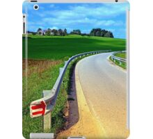Country road into amazing panorama | landscape photography iPad Case/Skin