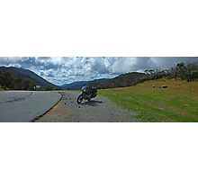 BMW R100RS - OnTop of Australia - Dead Horse Gap -  Alpine Way Photographic Print