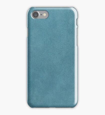Blue leather texture iPhone Case/Skin