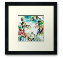 CHE GUEVARA - watercolor portrait Framed Print