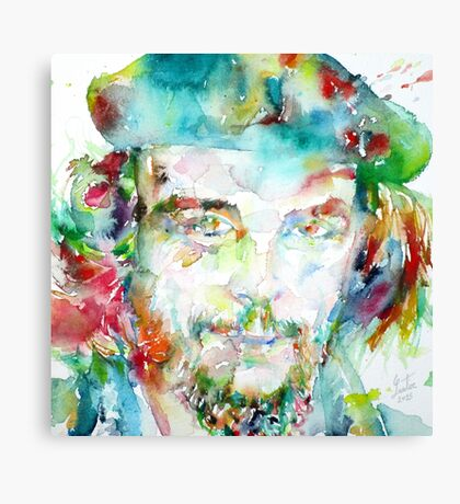 CHE GUEVARA - watercolor portrait Canvas Print