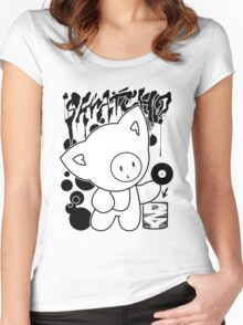 Cat Skratch Graf Women's Fitted Scoop T-Shirt