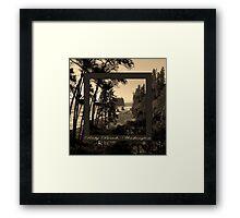 ruby beach, wa, usa old school (2x square) Framed Print