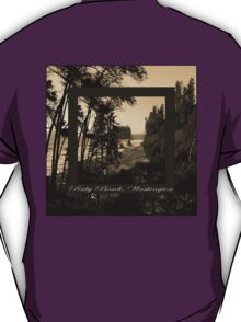 ruby beach, wa, usa old school (2x square) T-Shirt