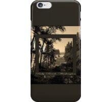 ruby beach, wa, usa old school (2x square) iPhone Case/Skin