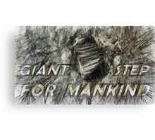 Giant step for mankind Canvas Print