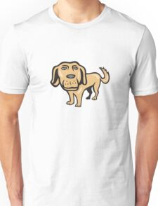 Retriever Dog Big Head Isolated Cartoon Unisex T-Shirt