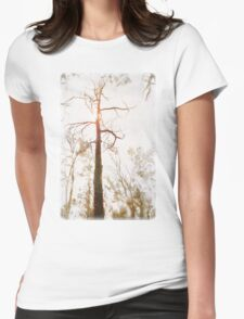 Winter in the Woodlands Womens Fitted T-Shirt