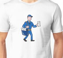 Mailman Postman Delivery Worker Isolated Cartoon Unisex T-Shirt