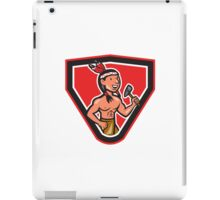 Native American Holding Tomahawk Cartoon iPad Case/Skin