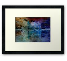 Island in the Storm Framed Print