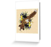 Fox and the Cradle Greeting Card