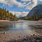 Bow River - Banff Canada by Ron Finkel