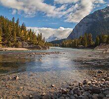 Bow River - Banff Canada by Ron Finkel