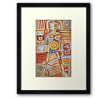 Puzzle painting Woman Framed Print