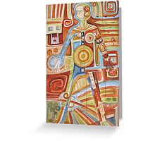 Puzzle painting Woman Greeting Card