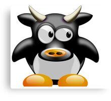 Cow work 1 Canvas Print