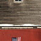 Window Over a Flag by Wayne King