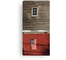 Window Over a Flag Canvas Print