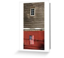 Window Over a Flag Greeting Card