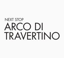 Next Stop Arco di Travertino Black Text One Piece - Short Sleeve