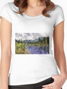 Reflections of Nature Women's Fitted Scoop T-Shirt