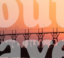 South Haven, Michigan Sunset Gathering Sticker