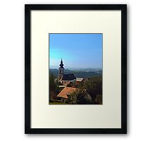 Village church, skyline and panorama | landscape photography Framed Print