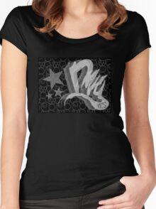 Dreamer Pattern BnW Women's Fitted Scoop T-Shirt