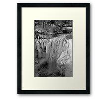 Minnehaha Falls Ice Framed Print